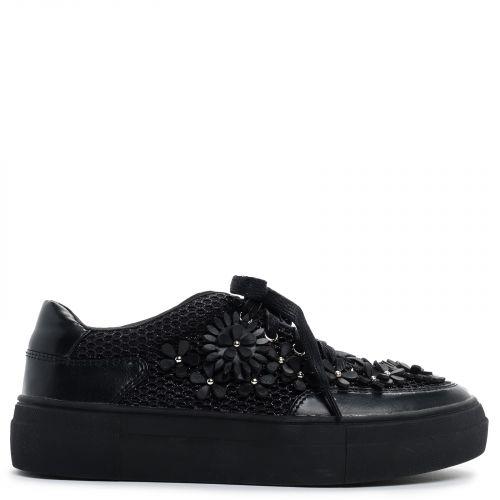 Black net sneaker