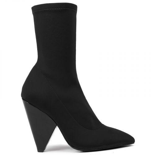 Black textile bootie