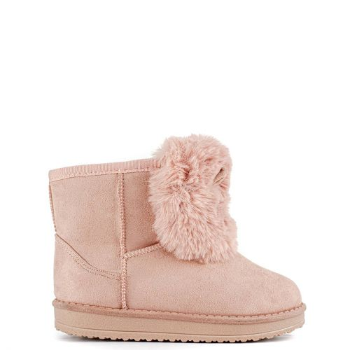 Παιδικό ροζ cosy boot με γουνάκι