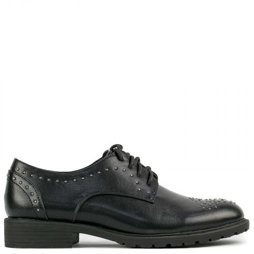 Black Oxford with studs
