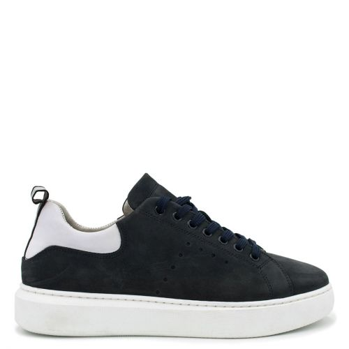 Men's navy nubuck leather sneaker