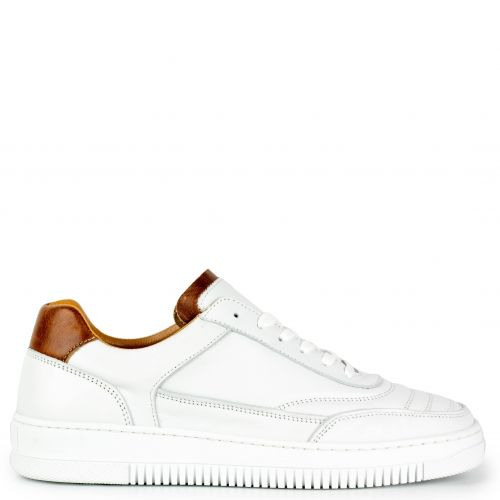 White leather retro sneaker