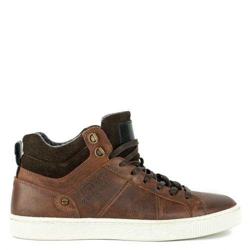 Men's brown leather sneaker