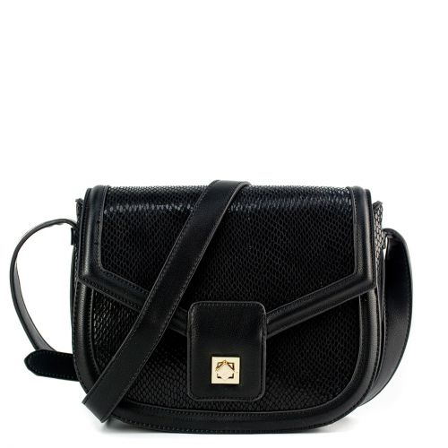 Black bag with flap