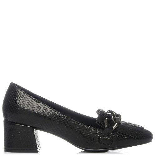 Μαύρο μεταλλιζέ loafer