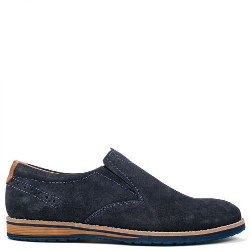 Men's blue leather loafer