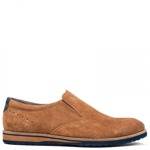 Men's tobacco leather loafer