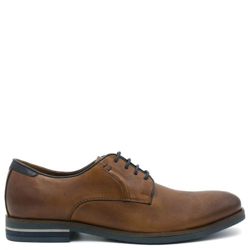 Men's tan leather derby