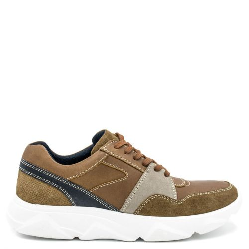 Men's tan leather casual shoe