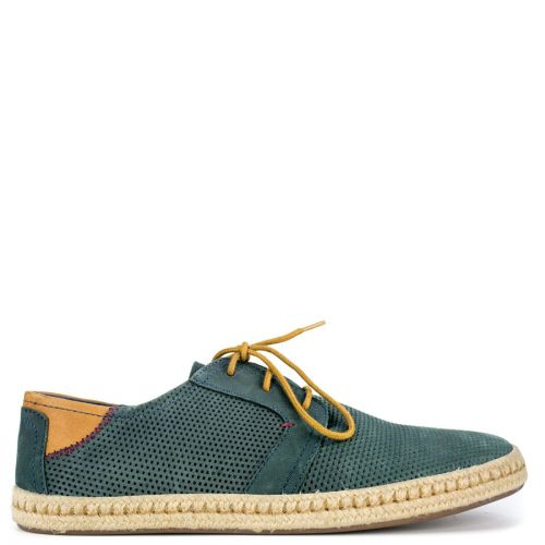 Men's navy leather espadrille