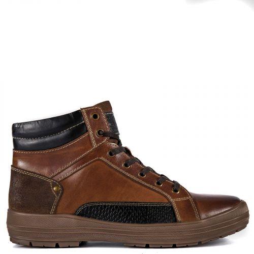 Tobacco leather men's sneaker low cut boot