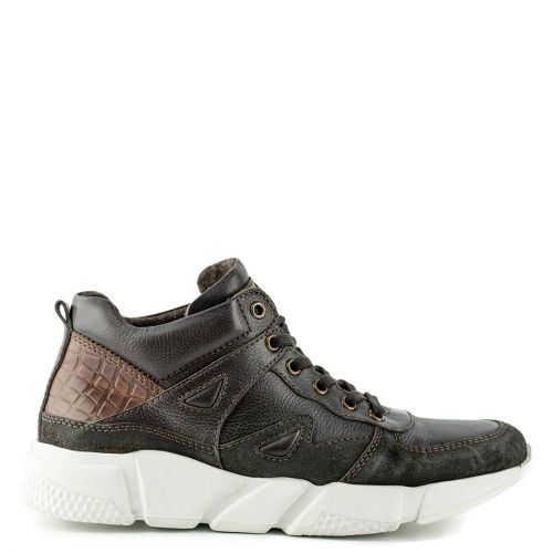 Men's brown leather casual shoe