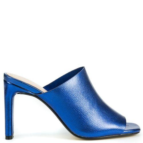 Royal blue metallic mule