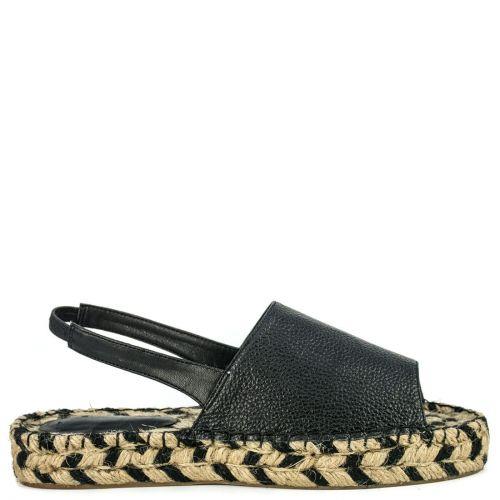 Black peep toe espadrille