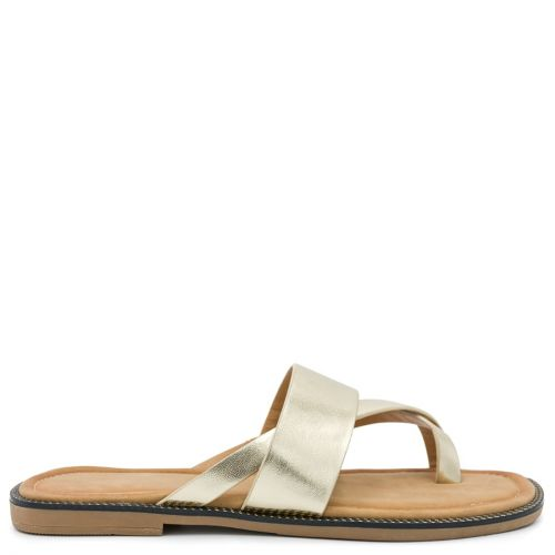 Gold sandal with band