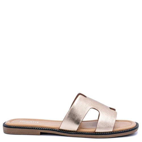 Pink gold sandal with band