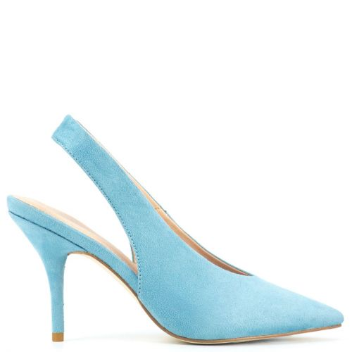 Light blue slingback pump