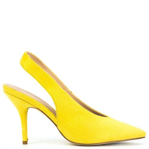 Yellow slingback pump