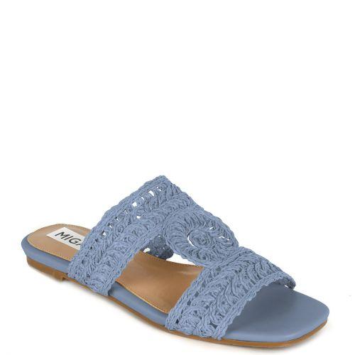 Blue knitted sandal