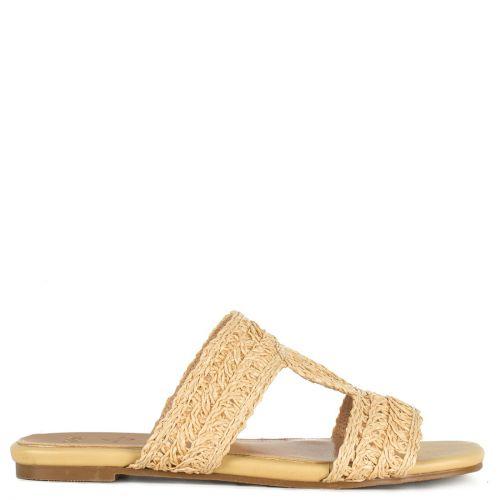 Beige  knitted sandal