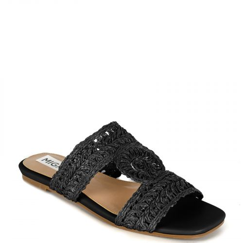 Black knitted sandal