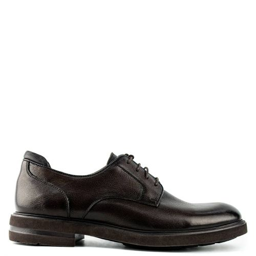 Men's brown leather derby shoe