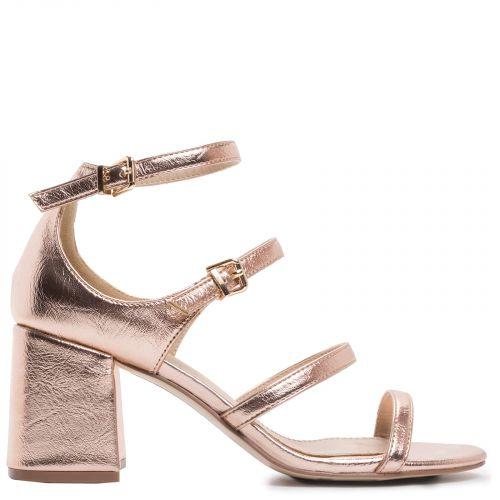 Pink gold multistrap sandal