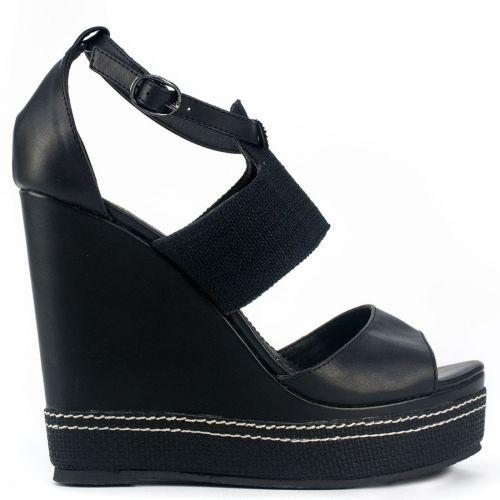 Black fabric platform