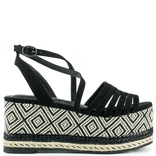 Black multistrap wedge