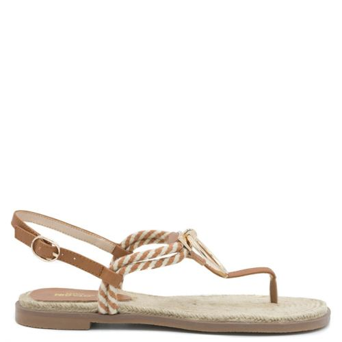 Sandal with tobacco rope thong