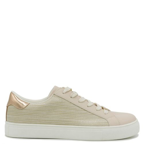 Beige sneaker with laces