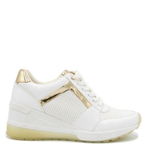 White hidden heel sneaker