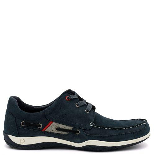 Men's navy nubuck boat shoe