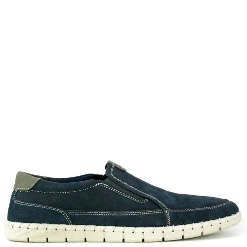 Leather casual navy shoe