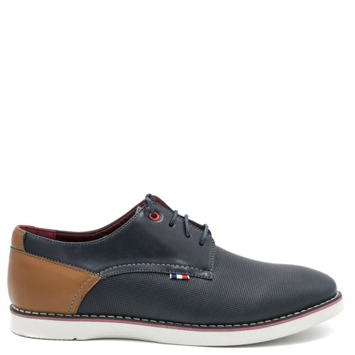 Men's navy perforated derby