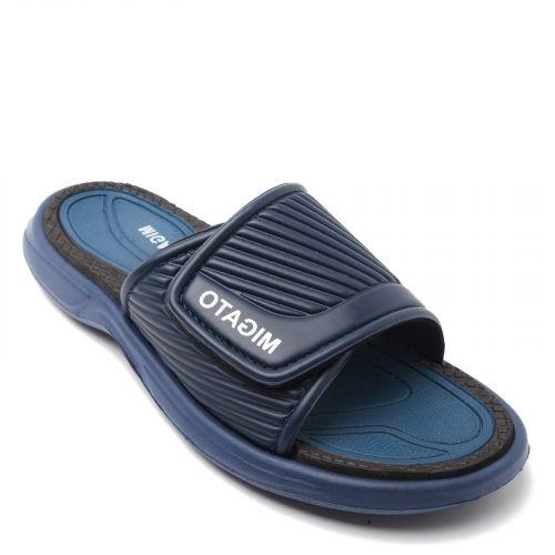 Men's dark blue slides