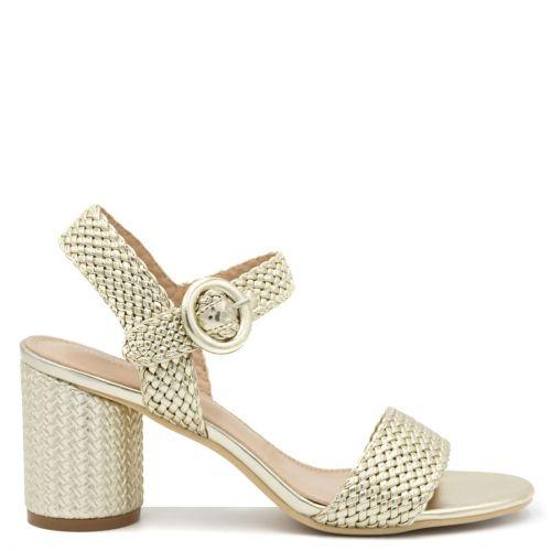 Gold woven sandal