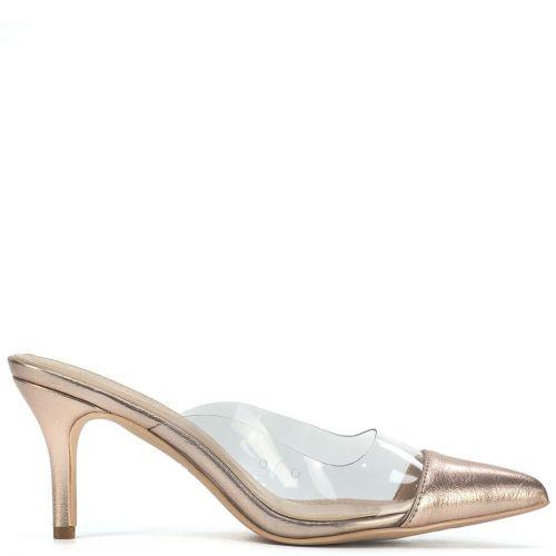 Ροζ χρυσό mule με διαφάνεια