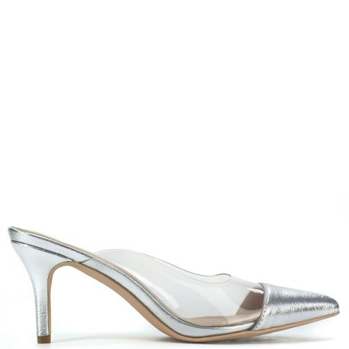Silver mule with pvc