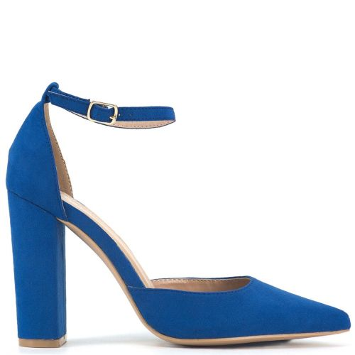 Royal blue suede pump