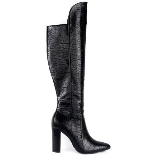 Μαύρη κροκό μπότα
