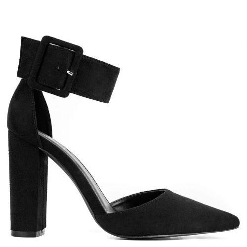 Black pump with strap