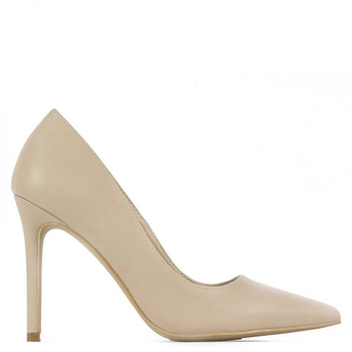 Pointy pump in nude