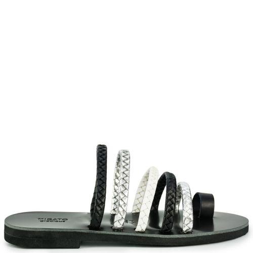 Black Grecious leather sandal