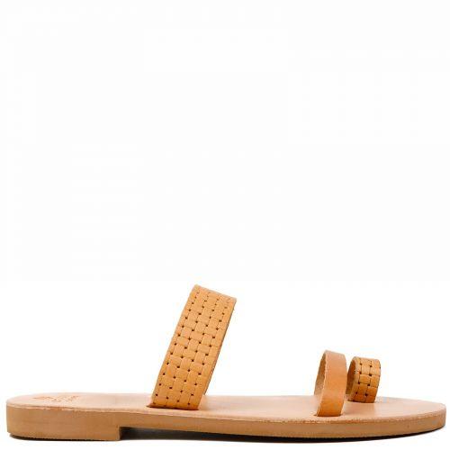 Beige Grecious leather sandal