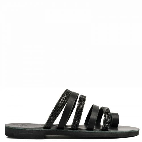 Black Grecious leather multistrap sandal