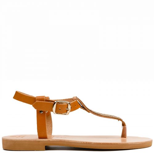 Beige Grecious leather sandal