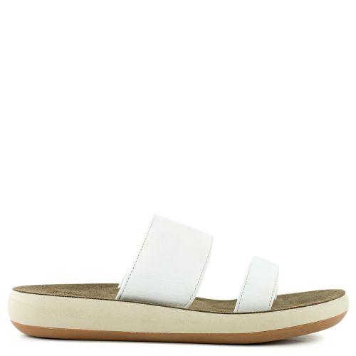 White leather flatform