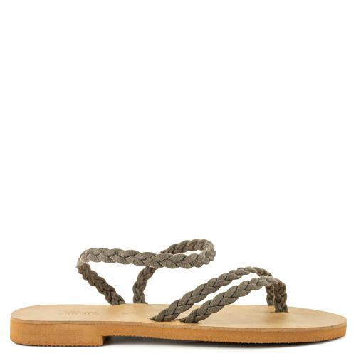 Taupe GRECIOUS leather sandal