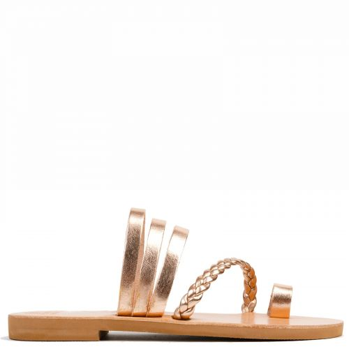 Pink gold Grecious leather sandal